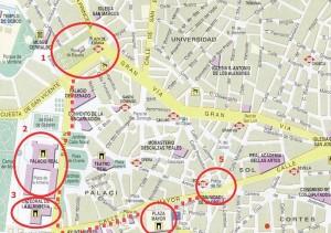 Карта центра Мадрида