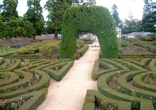 сады в монастыре Escorial