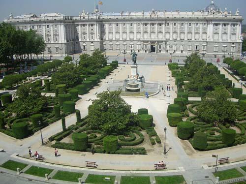 Plaza de Oriente панорама