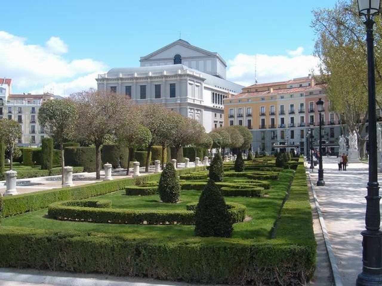 Plaza de Oriente Madrid сквер