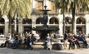 fontain las Ramblas Barcelona