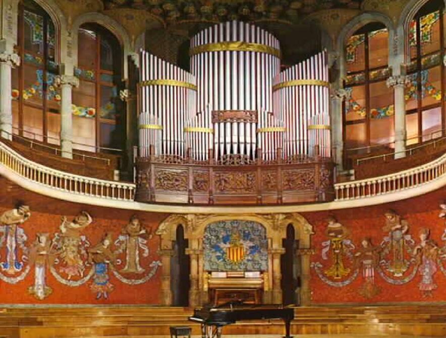 Орган во дворце каталонской музыки