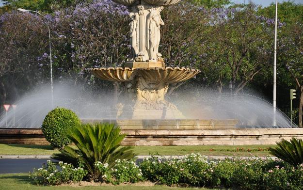 Фонтан в садах Мурильо