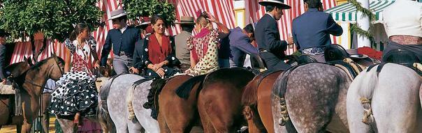 лошади на Feria de Sevilla