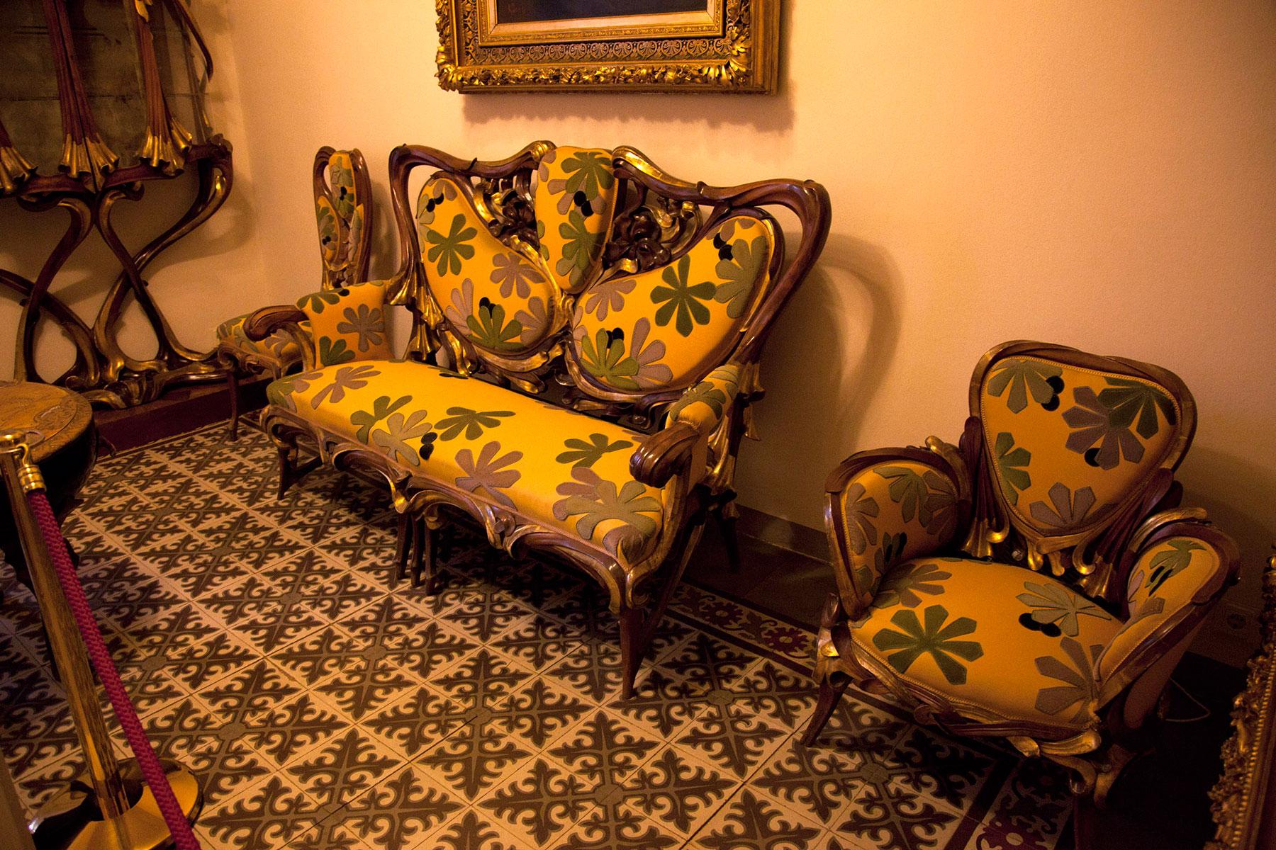 Музей Гауди мебель