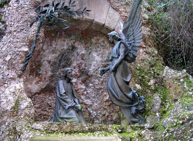 Снаружи монастыря Монтсеррат