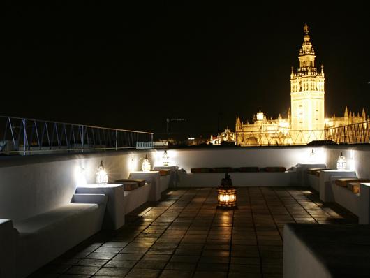Вид с крыши арабских бань Севильи