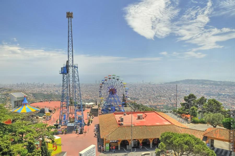 Обзорные фото горы в Барселоне