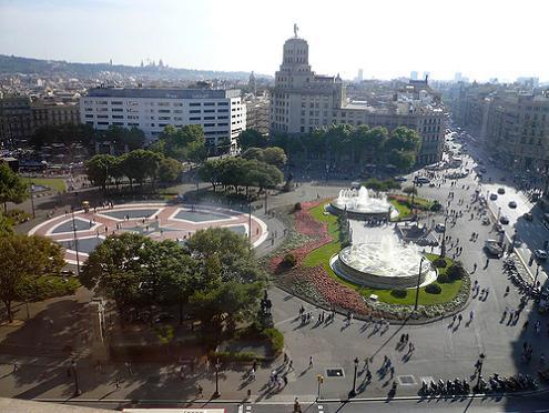 Обзорный вид площади Каталонии