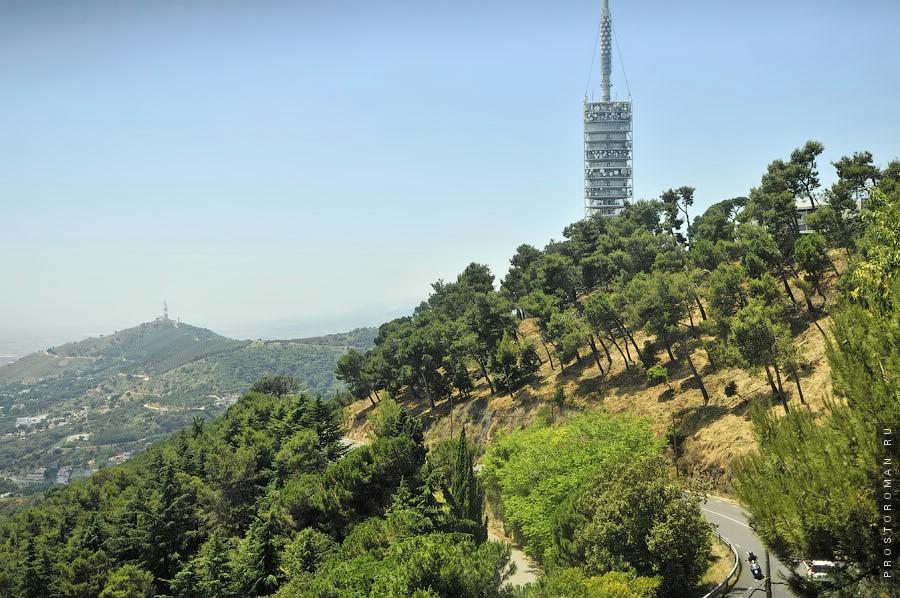 Телебашня на горе в Барселоне