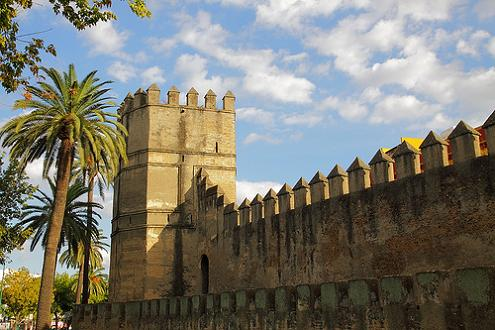 Фото городских стен Севильи