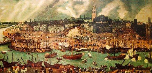 Порт Севильи в 16 веке