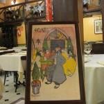 Меню от Пикассо в ресторане Четыре Кота