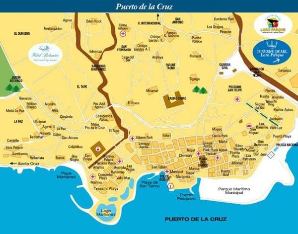 Карта Пуэрто де ла Крус