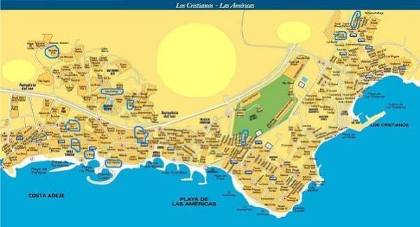 карта Коста Адехе